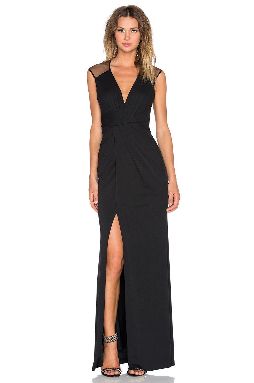ec60a2da4696f En Şık Uzun Elbise Modelleri - Gece Elbiseleri Siyah Yırtmaçlı #moda  #fashion #fashionblogger