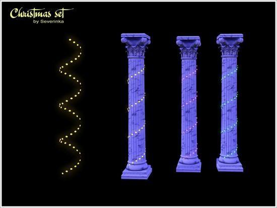 Severinka_'s Christmas garland for columns