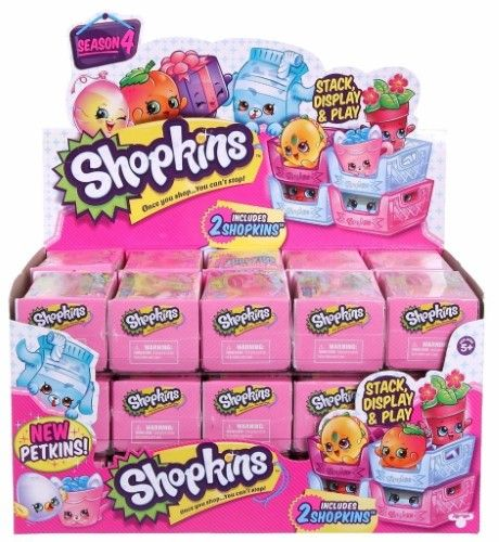 Shopkins Season 4 - Case of 30 Sealed 2 Packs with Petkins