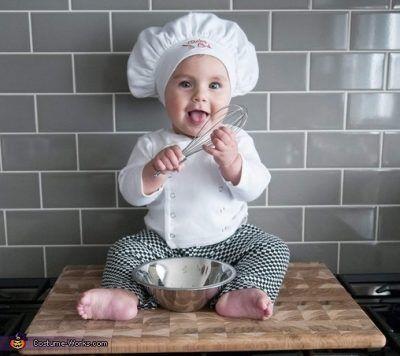 20 Ideas De Disfraces Para Bebés Nuevos Y Originales Fotos Disfraz Bebe Traje De Cocinero Disfraces