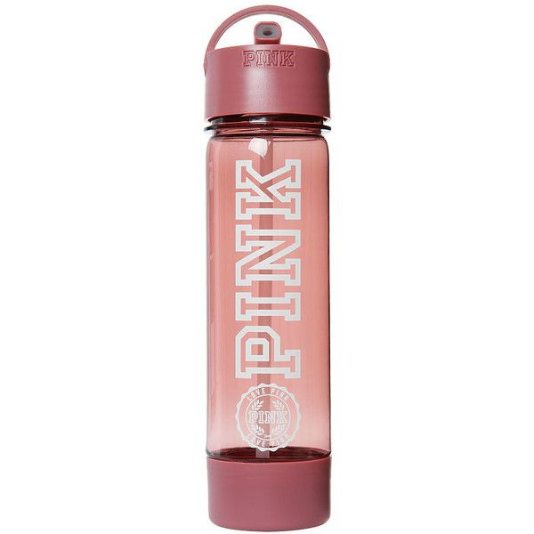 PINK Campus Water Bottle ($17) ❤ liked on Polyvore featuring home, kitchen & dining and blue