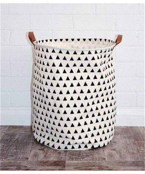 semicircle grid batman pattern handbagbaby kids toy clothes canvas laundry basket storage bag with leather handles room decor