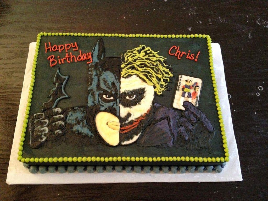 Dark KnightJoker Cake WwwKellysCakerycom Kids Cakes - Dark knight birthday cake