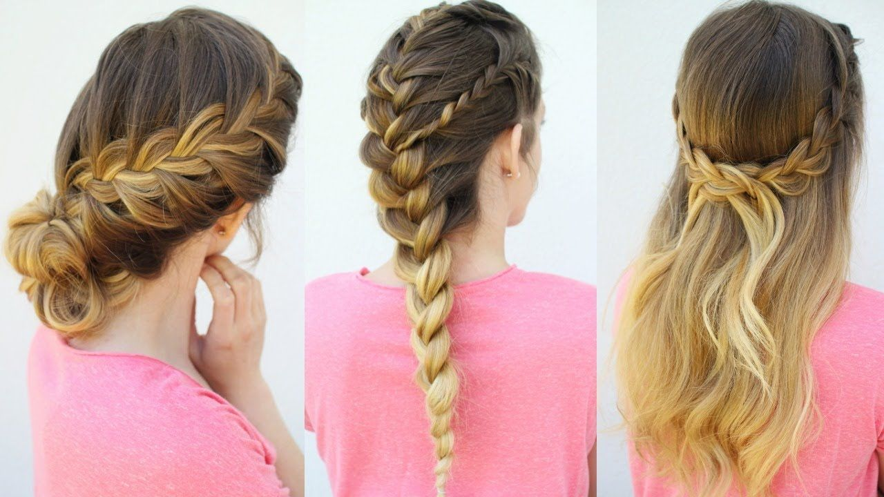 French Braid Hairstyles Interesting 3 French Braid Hairstyles  Back To School Hairstyles
