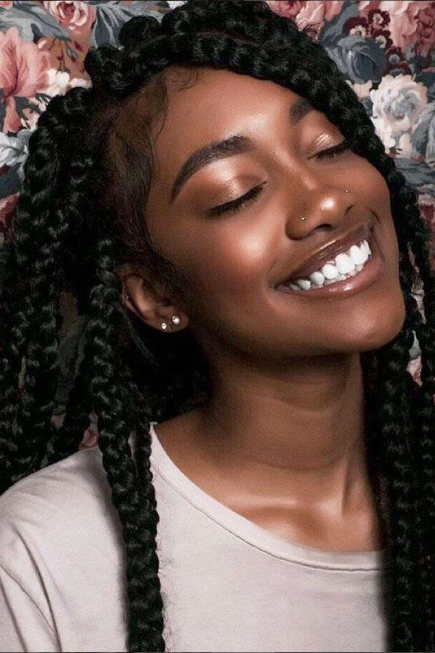 25 Beautiful Black Women Show Us How To Slay In Jumbo Braids