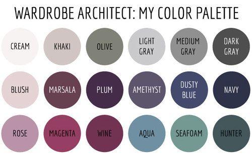 Wardrobe Architect: My Color Palette | Soft summer color ...