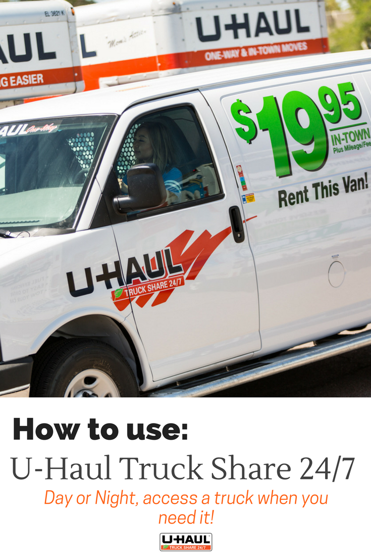 Moving Just Got Easier With U Haul Truck Share 24 7 Did You Know You Can Rent A Truck Right From Your Mobile Device First U Haul Truck Moving Day Uhaul Truck