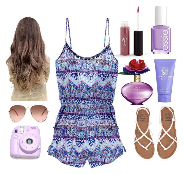 """""""Summer is Here"""" by tfiosunicorn on Polyvore featuring Victoria's Secret, Billabong, Polaroid, Sigma Beauty, Essie, Marc Jacobs and Vince Camuto"""