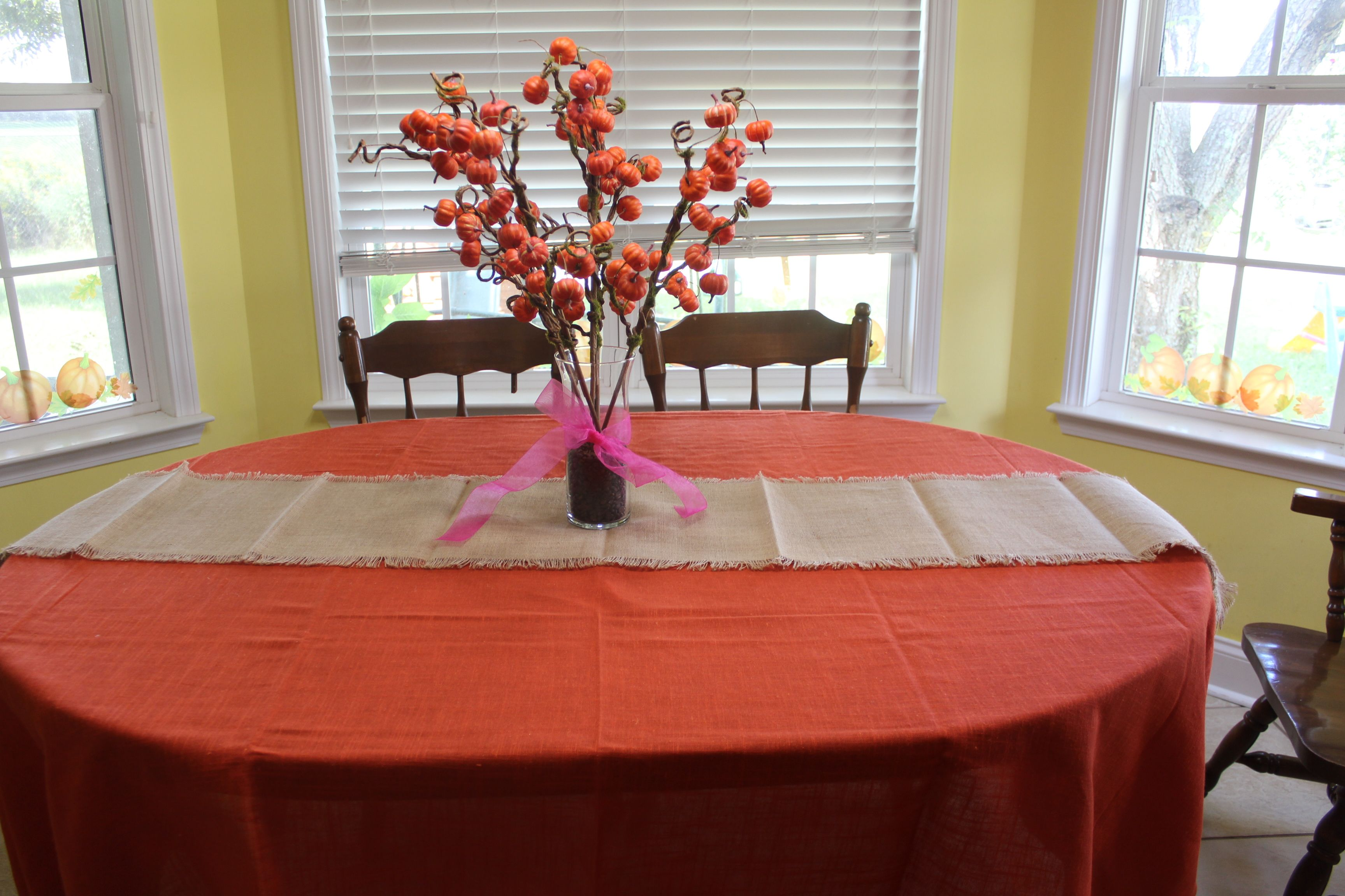 Table Cloth From Home Goods Pumpkins From Hobby Lobby Home