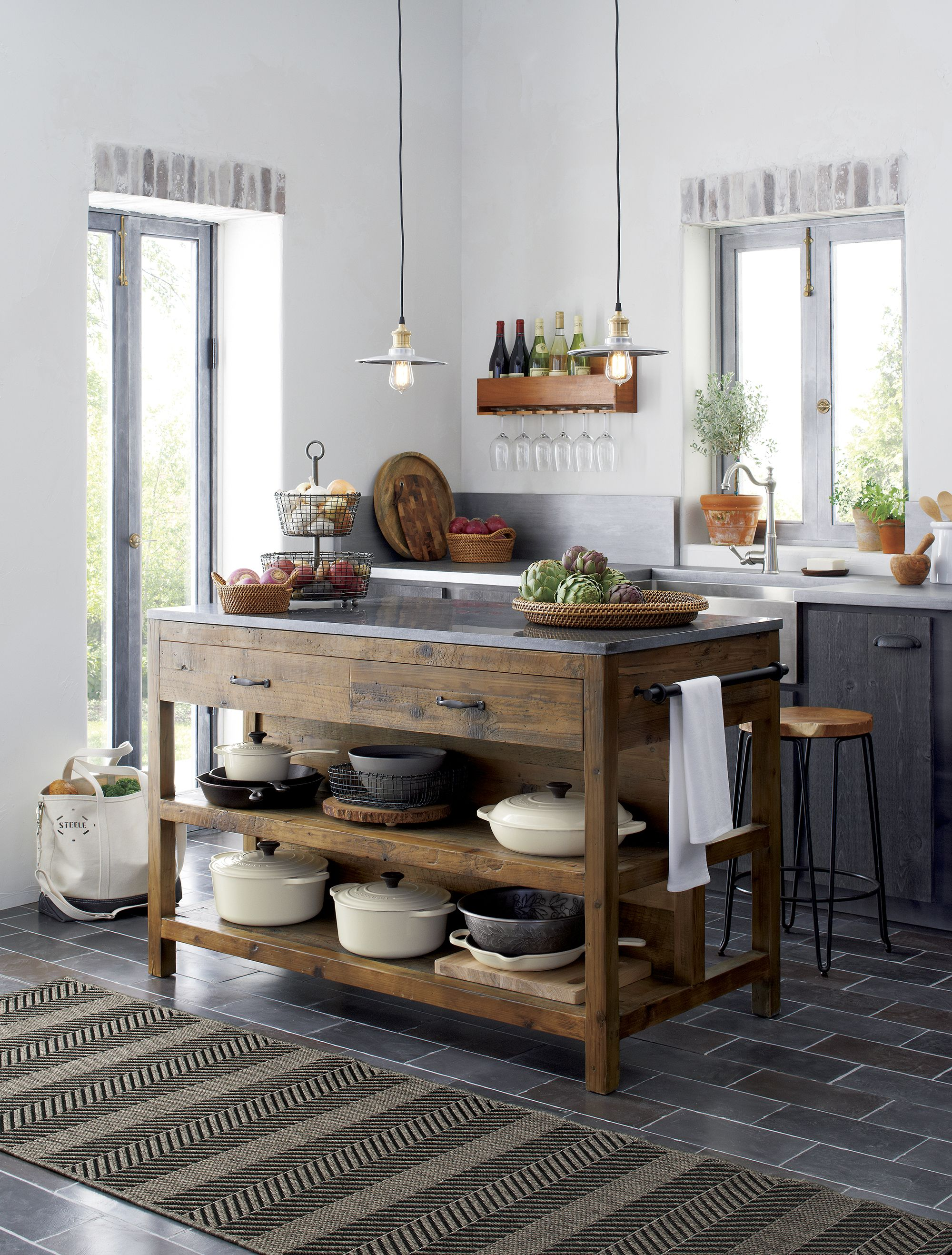 Charmant Like A Treasured Vintage Find Or A Custom Designed Piece, This Elegant Kitchen  Island Serves As A Rustic Yet Refined Workstation For The Home Cook Or ...