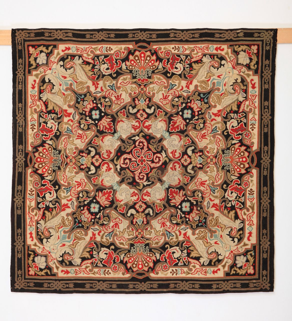 Louis Philippe Aubusson in wool and metal thread | From a unique collection of antique and modern western european rugs at http://www.1stdibs.com/furniture/rugs-carpets/western-european-rugs/