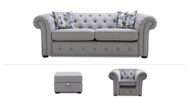Twille Clearance 3 Seater Sofa Chair Footstool Opera Dfs