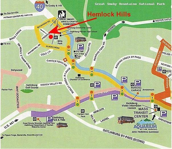 Gatlinburg Town Map Www Vrbo Com 558850 Or Http Www