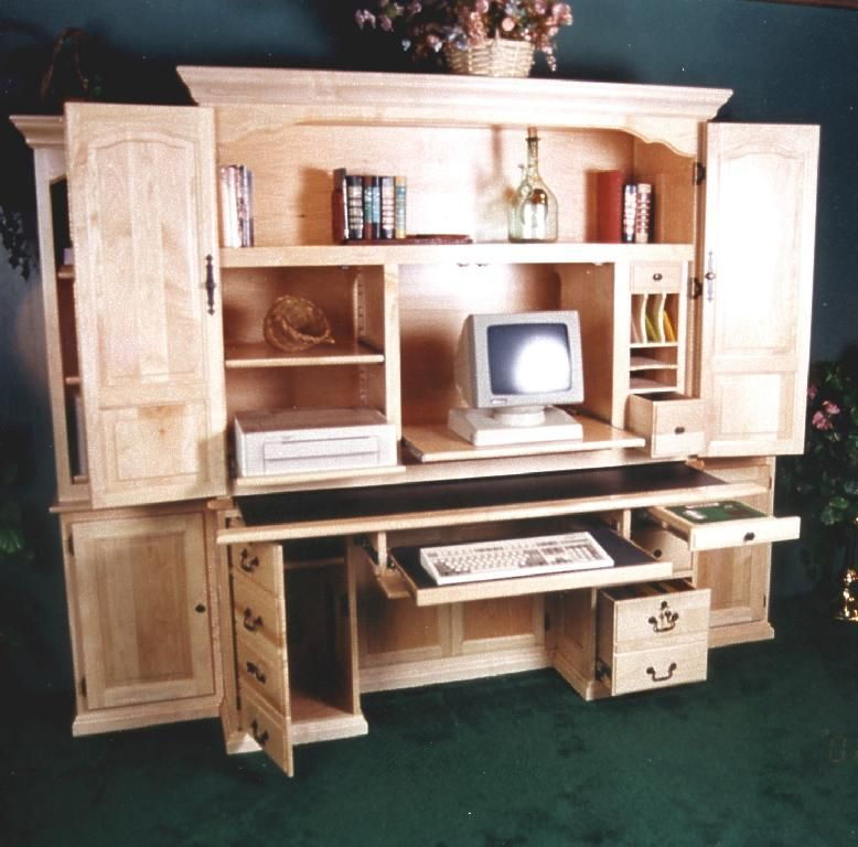 computer armoire desk for the home pinterest. Black Bedroom Furniture Sets. Home Design Ideas