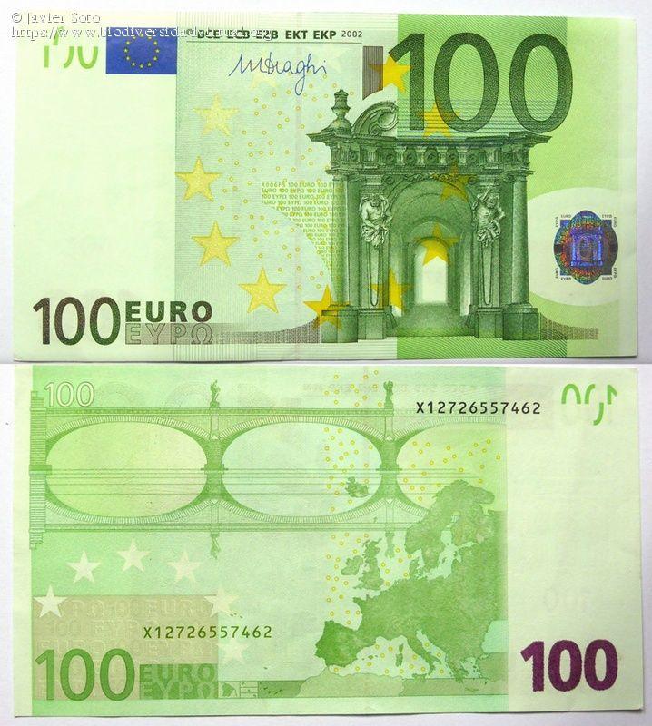 Billete De 100 Euros Europa 2002 Billetes Billetes Del Mundo Billetes De Banco