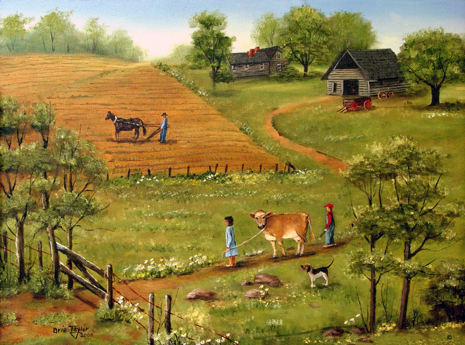 North Rural Landscape American Paintings