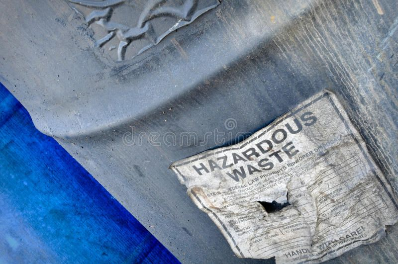 Hazardous Waste Hazardous and Toxic Waste Barrels storing pollution