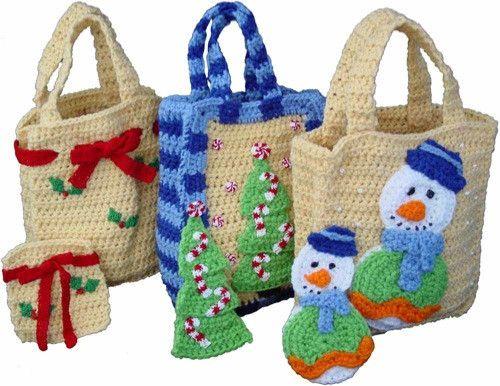 Christmas Gift Bags Set 1 Crochet Pattern Crochet christmas gifts