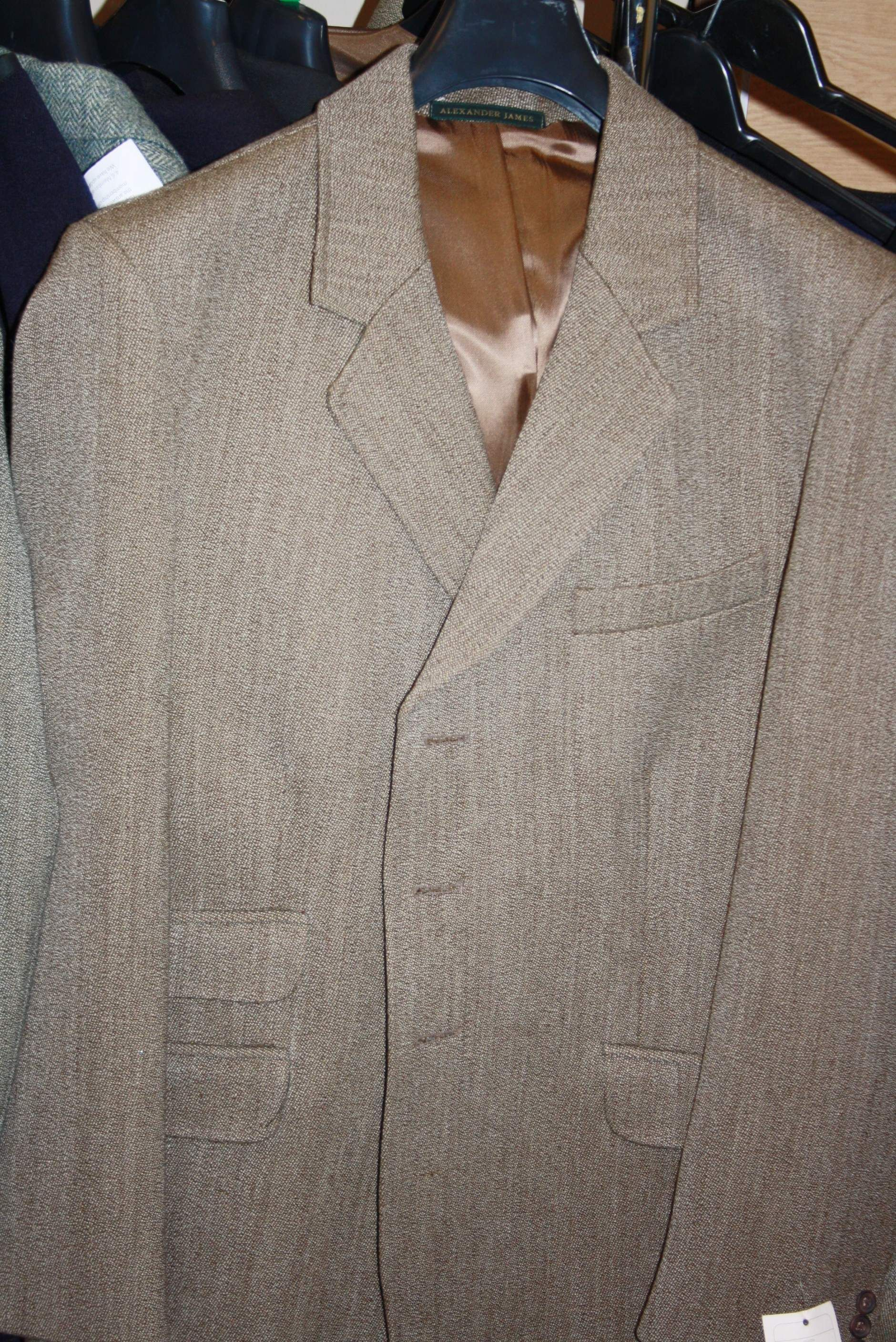 Mens Keeper Tweed Hacking Jacket - Fawn