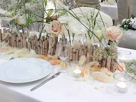 Tischdeko winterhochzeit  federn-tischdeko-hochzeit.jpg (470×353) | Hochzeit grau ...