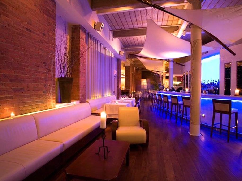 Bar Lounge Hospitality Interior Lighting Of Thalassa Restaurant NY
