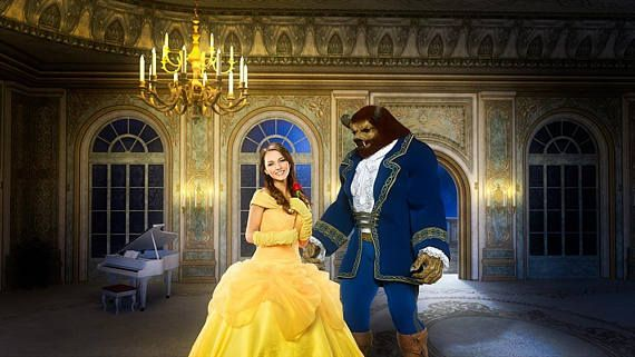 Beauty And The Beast Backdrop Belle Background Ballroom Digital