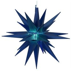 Blue Moravian Star Christmas Light