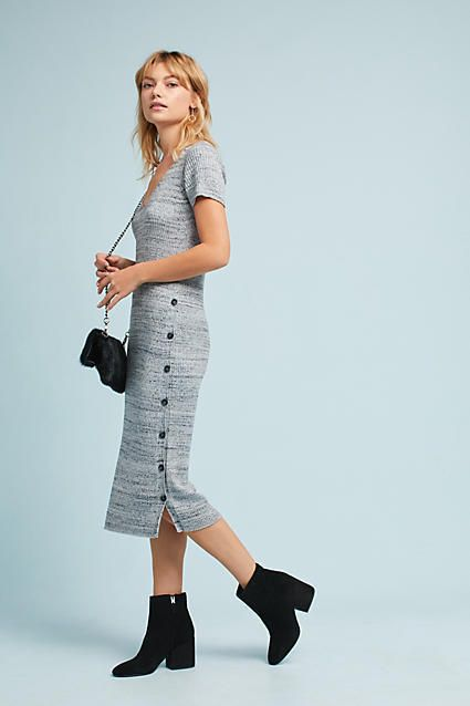 c64ad902c72 Anthropologie Ribbed Sweater Dress- super cute with booties-  style   fashion  affiliate