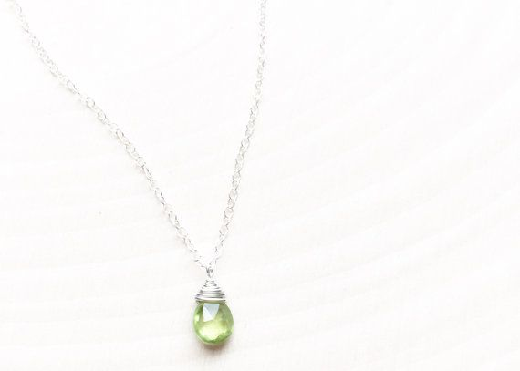 Peridot in August Simple Dainty Elegant by honeysheaSTUDIOS