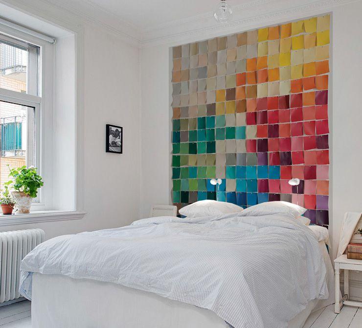 papier peint nuancier au fil des couleurs http www. Black Bedroom Furniture Sets. Home Design Ideas