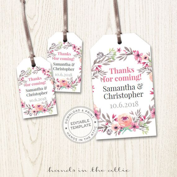 Mini Wedding Tags Personalized Hang Tags Wedding Favor Custom Tags - Wedding label templates