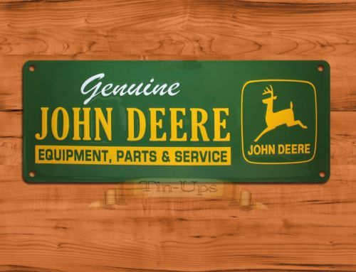 TIN UPS TIN Sign  John Deere Genuine  Tractor Farm Garage Wall Decor | eBay