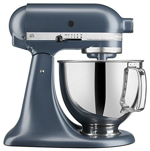 KitchenAid Artisan Series Stand Mixer With Pouring Shield  Blue Steel