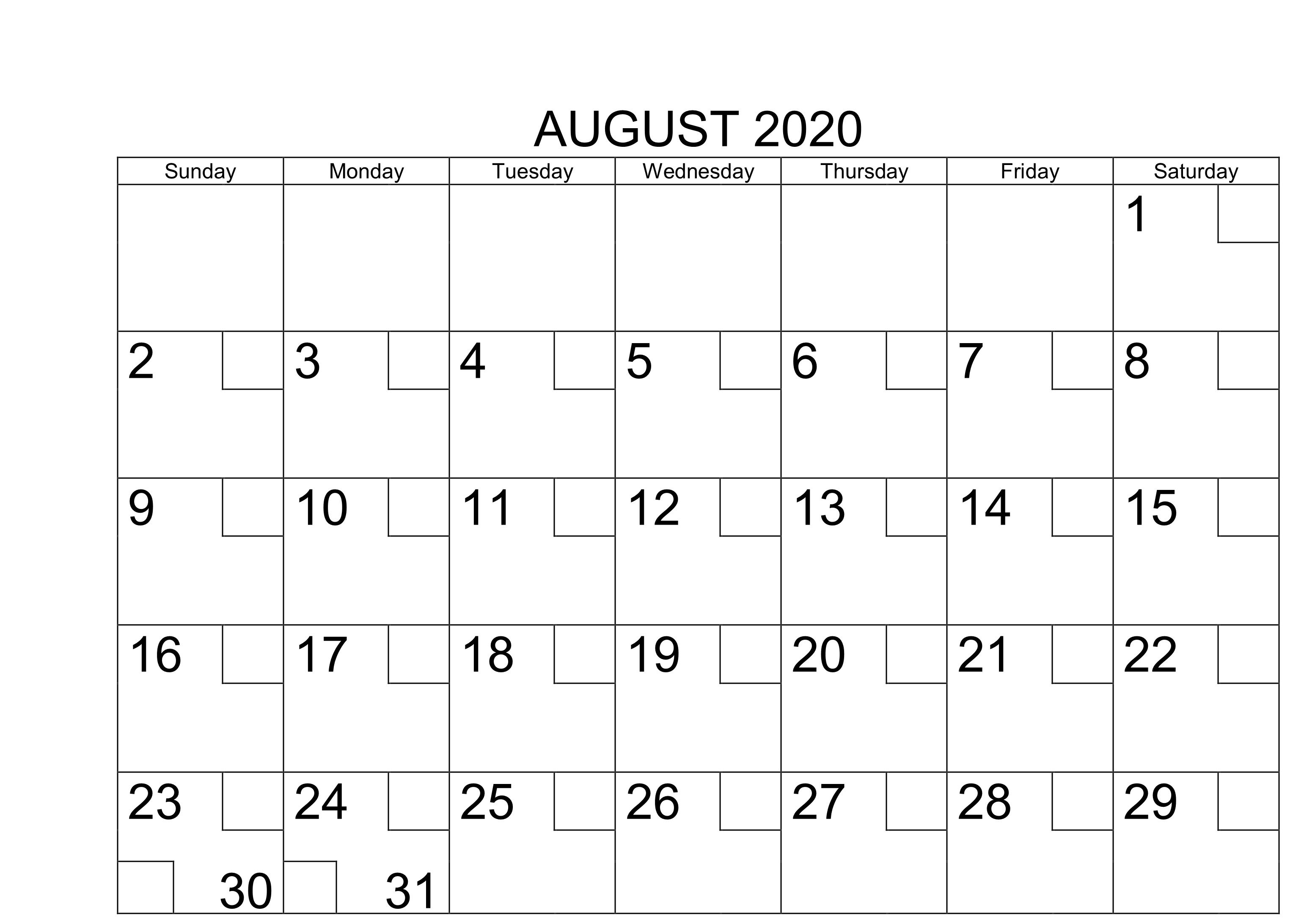 Pin On August 2020 Calendar