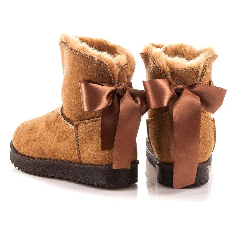 Kozaczki Dla Dzieci Kylie Brazowe Dzieciece Mukluki Z Kokarda Kylie Ugg Boots Boots Uggs
