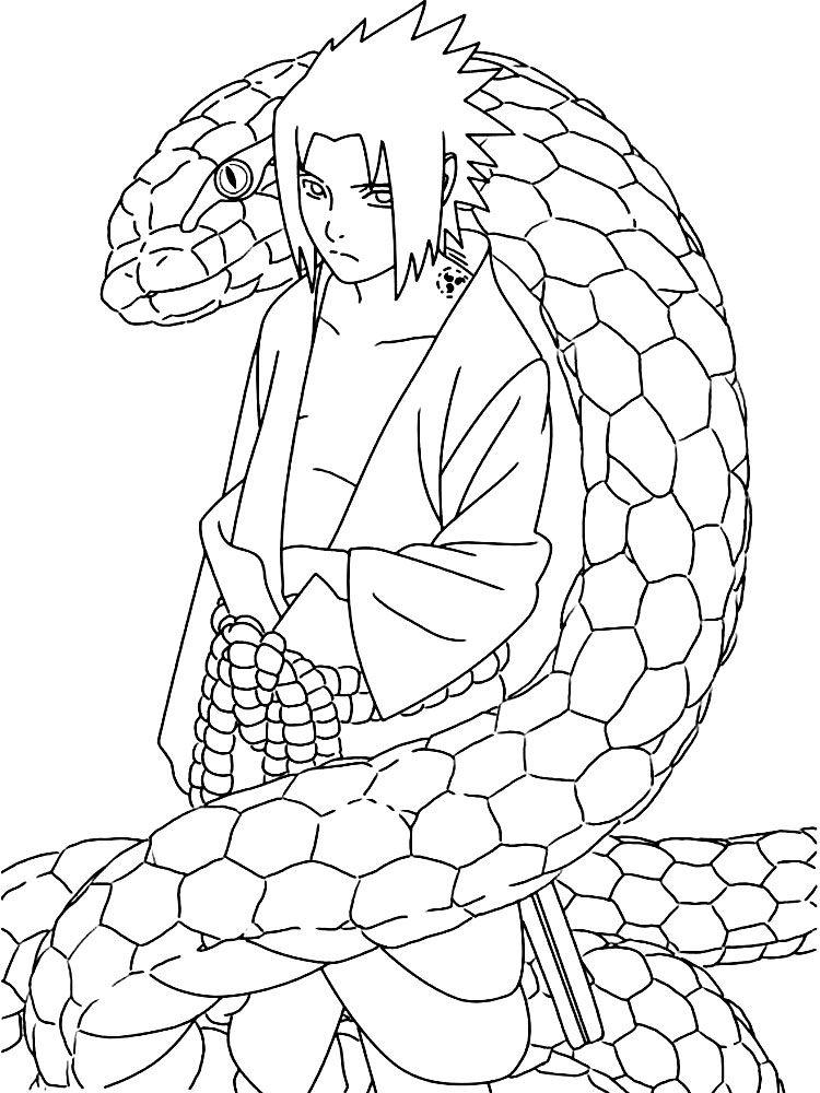 Imprimir Gratuitamente Desenhos De Sasuke Uchiha Para Colorir