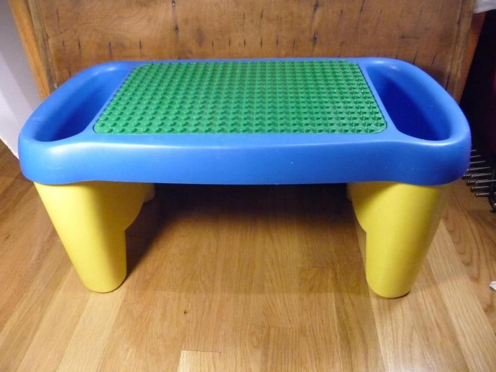 VTG 1998 LEGO Duplo Lap Table Desk Side Storage Compartments Bins ...