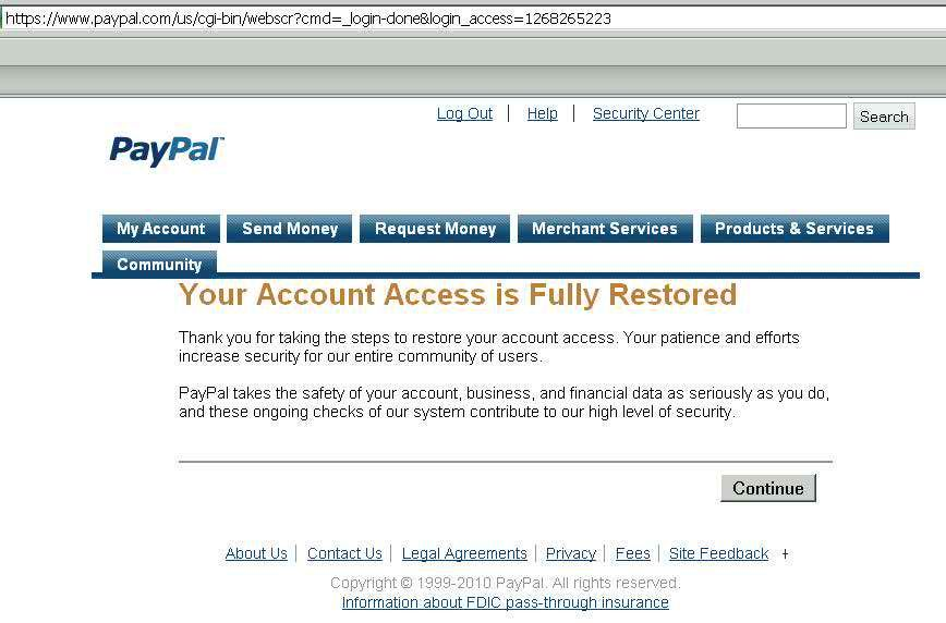 Restore Limited paypal ,ebay account  Credit card statement