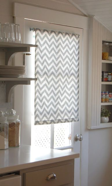 Love This Chevron Fabric Roller Shade Blinds For French