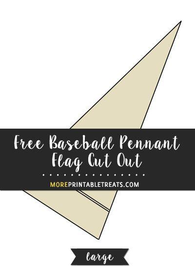 Free Baseball Pennant Flag Cut Out