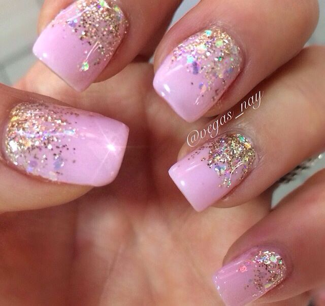 Wedding Ombre Nails Pink And White Popular Nails Nails Bride Nails