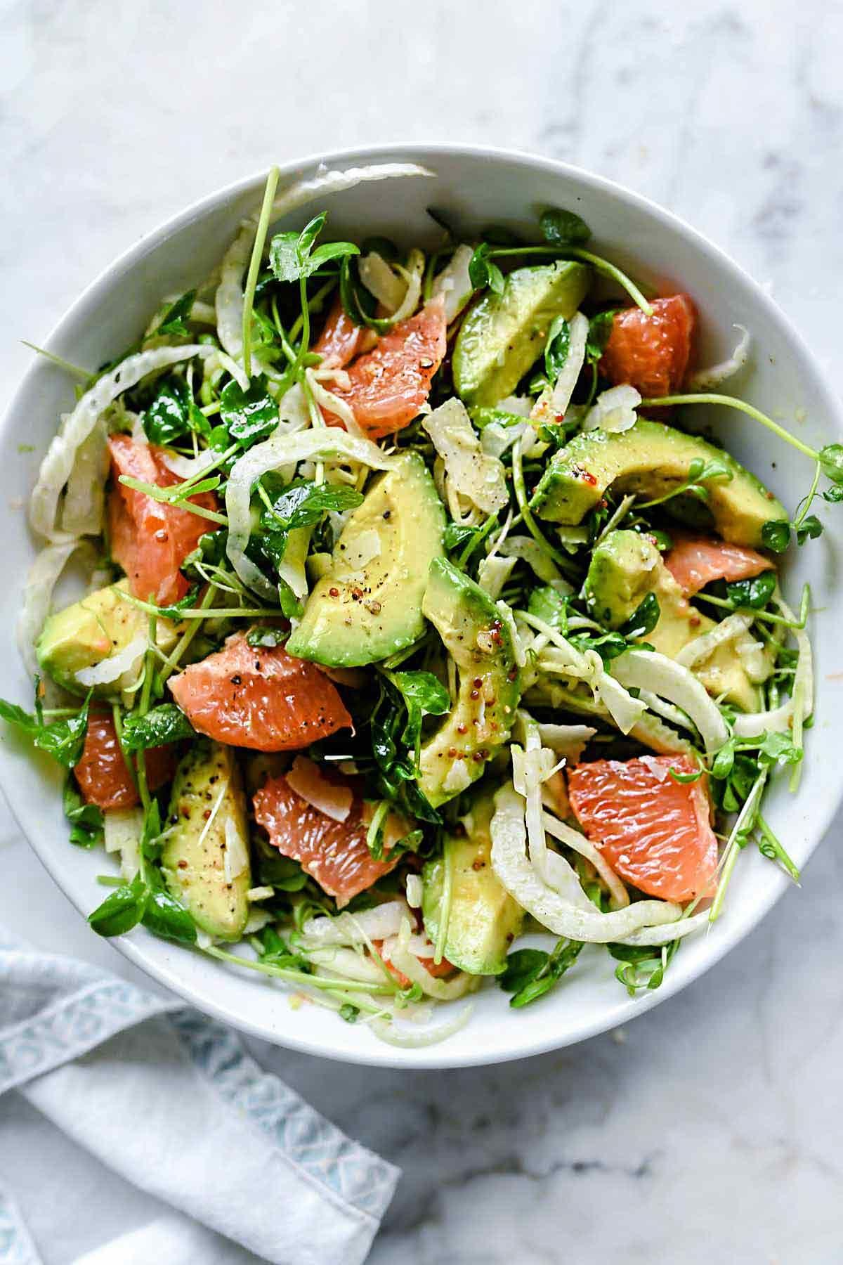Avocado Grapefruit and Fennel Salad | foodiecrush.com