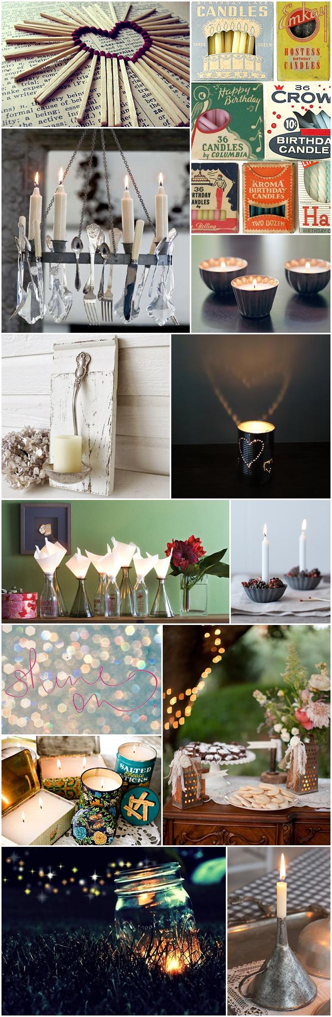 2012-11 Lieschen und Ruth Vintage Kerzen mit Backformen