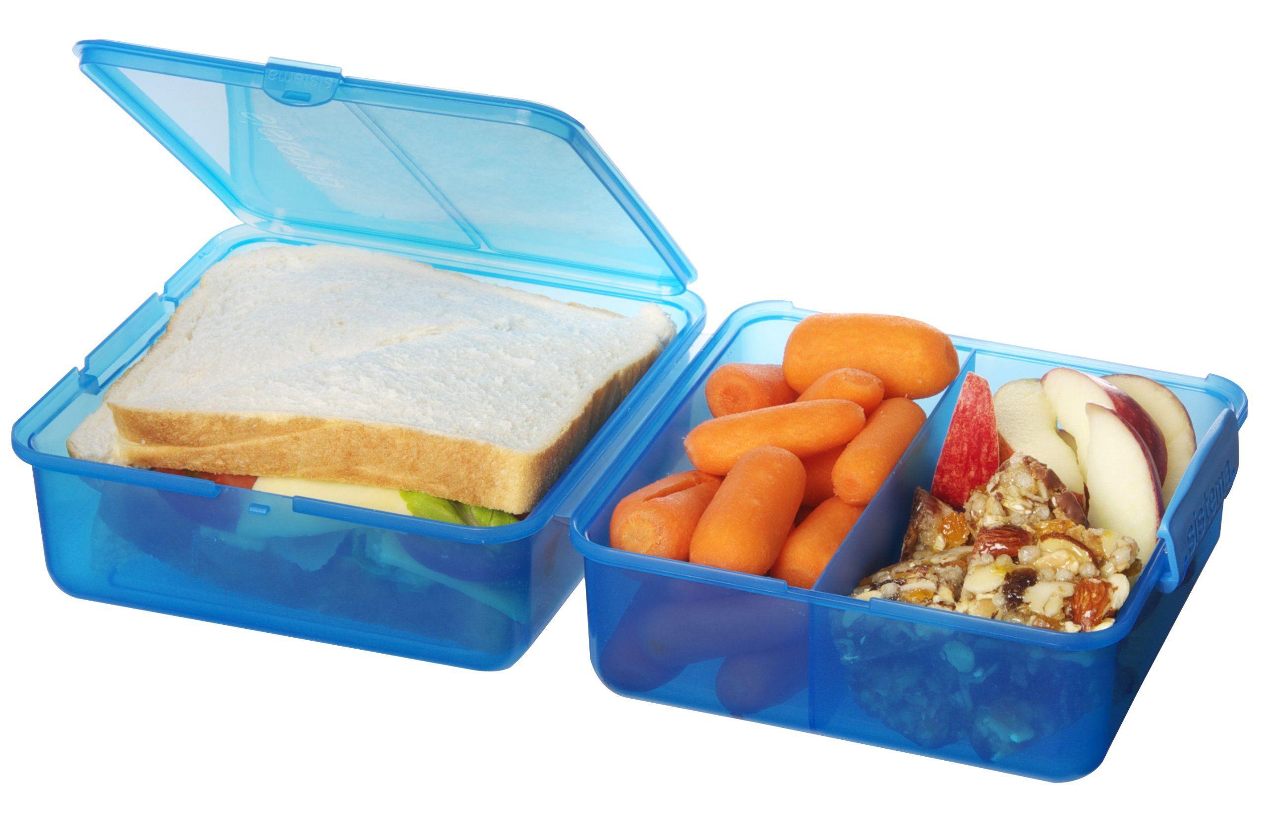 Sistema Lunchbox Quadratisch Blau Amazon De Kuche Haushalt