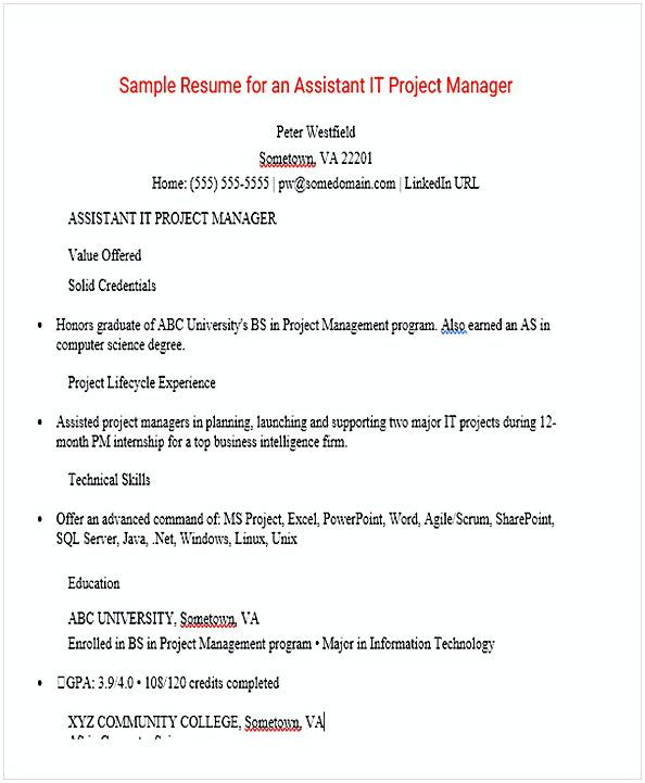 Assistant Project Manager Resume , Resume for Manager Position - assistant project manager resume