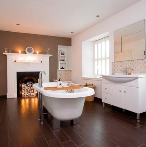 51 Spectacular Bathrooms With Fireplaces | DigsDigs Part 51