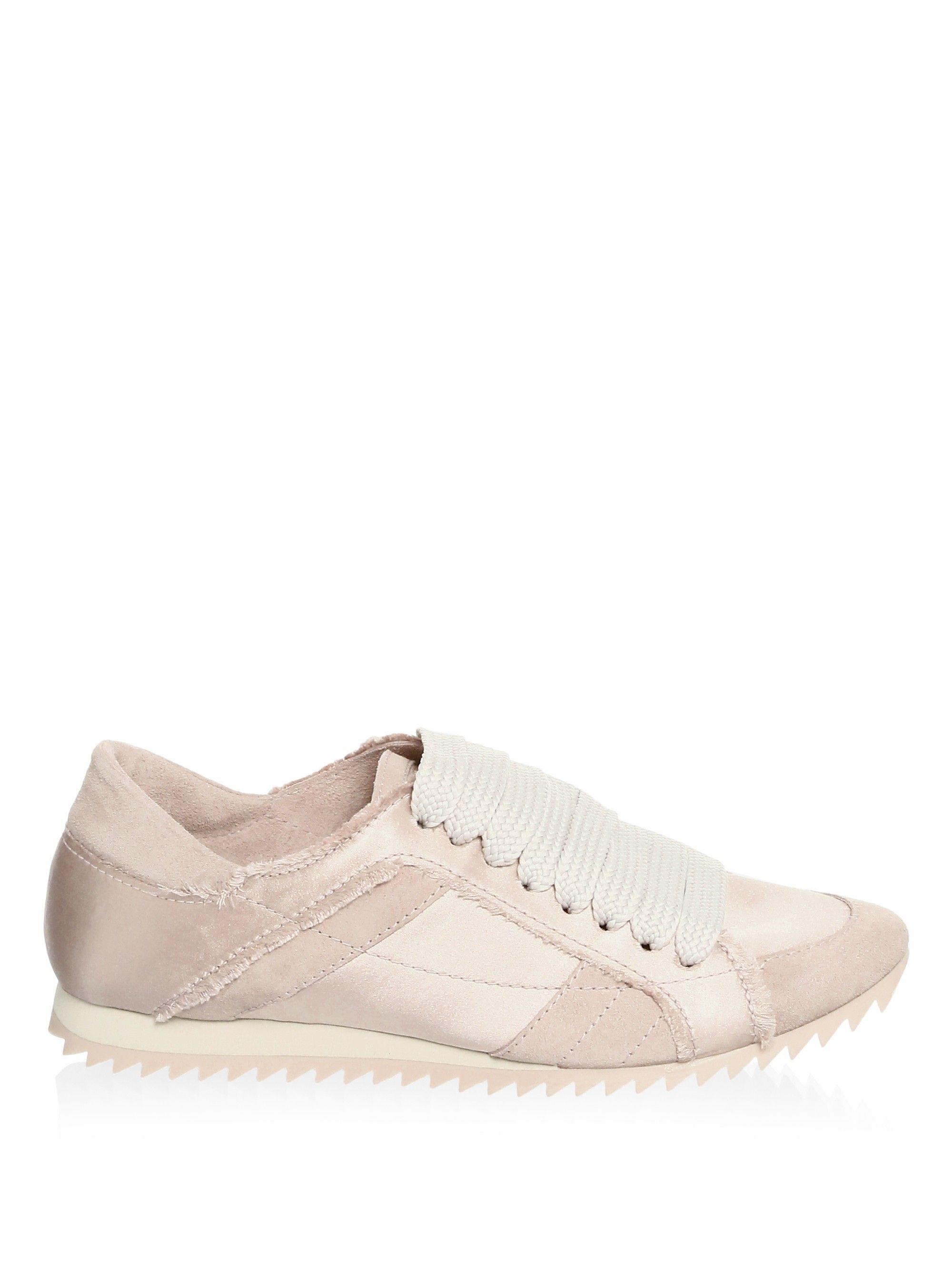 0b549d0691d9 Pedro García Cristina Satin Trainer Sneakers - Chiffon 37.5 (7.5)
