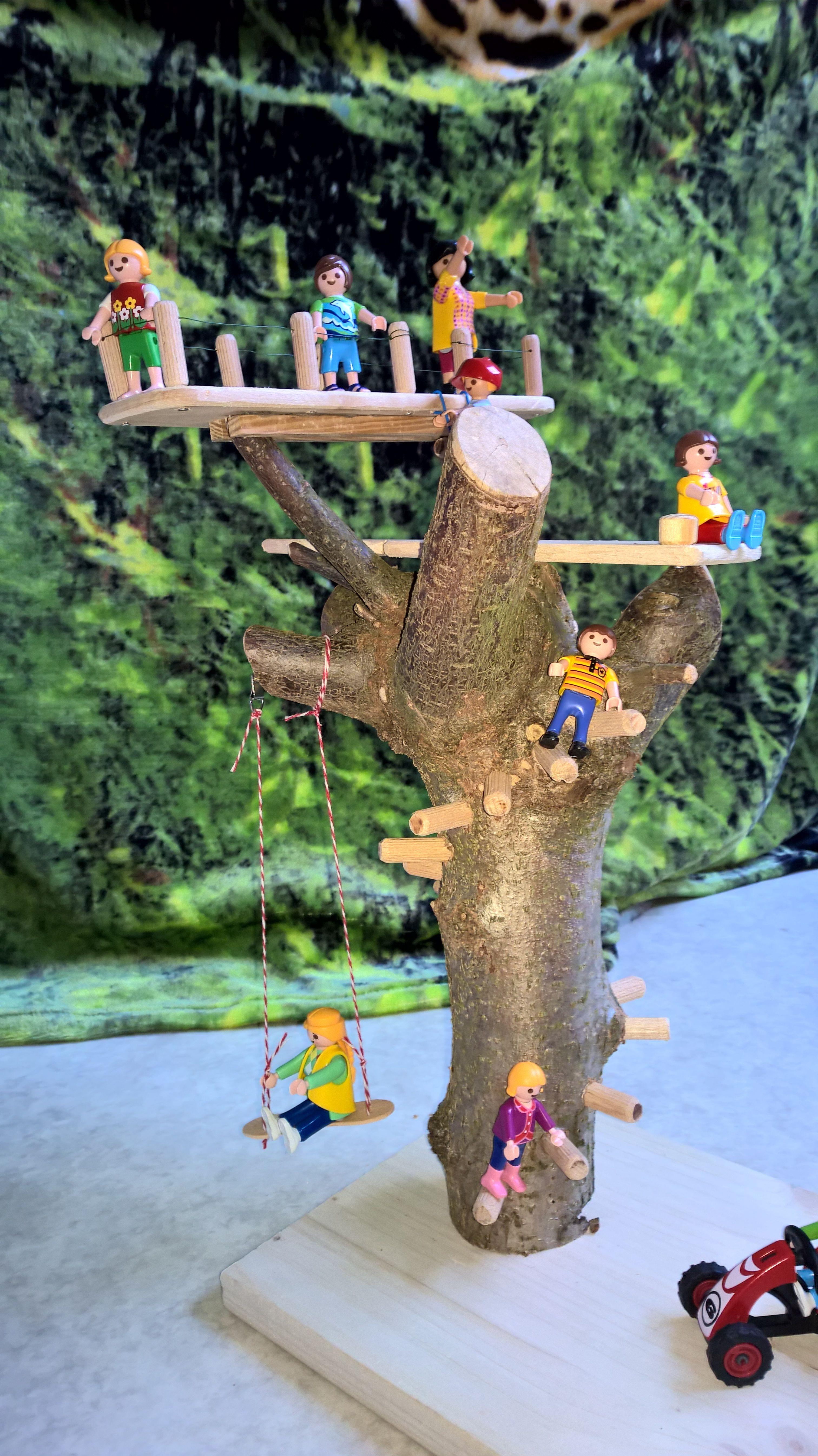 diy cabane dans les arbres pour playmobils playmobil pinterest les arbres diy et playmobil. Black Bedroom Furniture Sets. Home Design Ideas