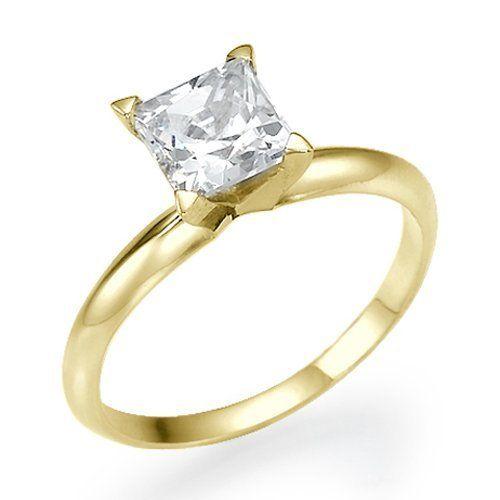 1 Carat Princess Cut Diamond Ring Yellow Gold Ringscladdagh