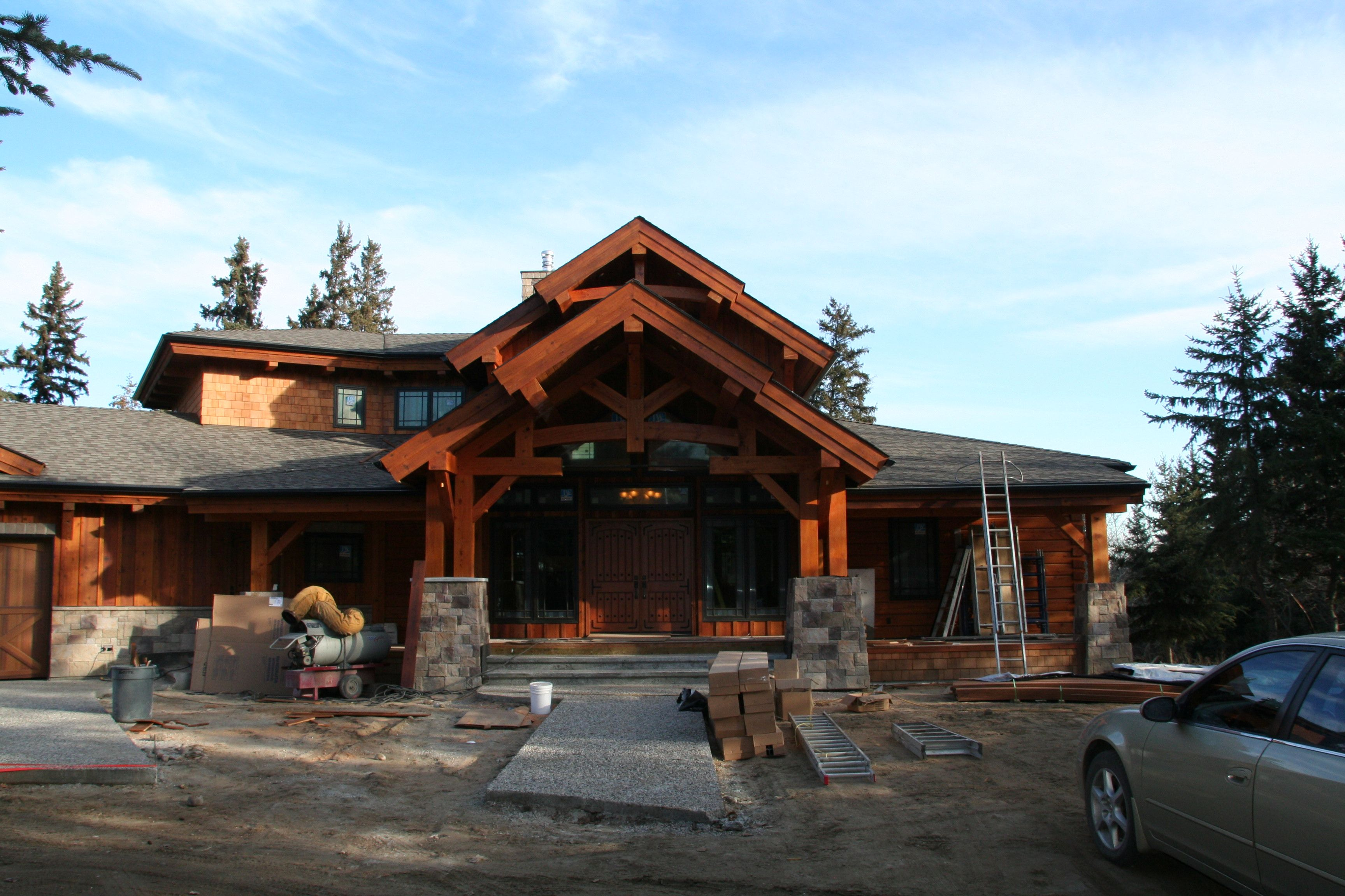Timber frame house plans timber frame log homes for Luxury timber frame home plans